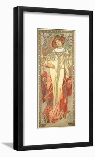 The Seasons: Autumn, 1900-Alphonse Mucha-Framed Giclee Print