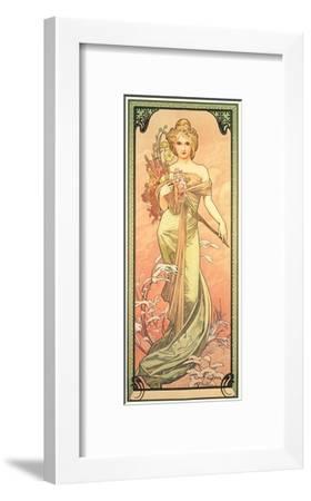 The Seasons: Spring, 1900-Alphonse Mucha-Framed Giclee Print