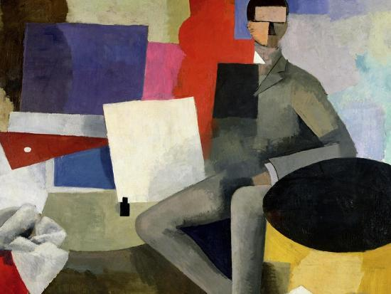 The Seated Man, or the Architect-Roger de La Fresnaye-Giclee Print