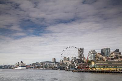 The Seattle Skyline on a Sunny Day-Michael Hanson-Photographic Print