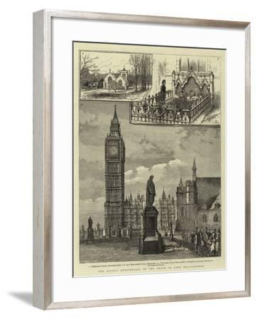The Second Anniversary of the Death of Lord Beaconsfield--Framed Giclee Print