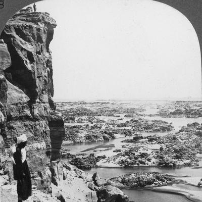 The Second Cataract of the Nile as Seen from the Southwest, Egypt, 1905-Underwood & Underwood-Framed Photographic Print