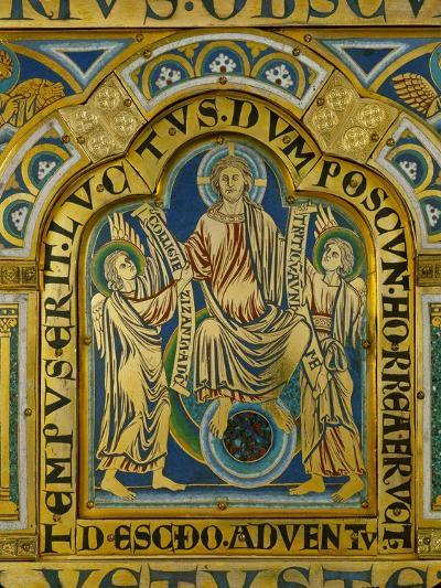 The Second Coming, Christ Orders Two Angels to Begin the Partition of Souls-Nicholas of Verdun-Giclee Print