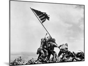 The Second Flag Raising on Iwo Jima on Feb. 23, 1945