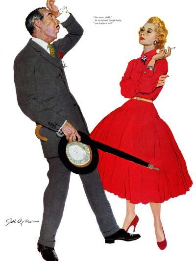 "The Second Mrs. Thorpe - Saturday Evening Post ""Leading Ladies"", February 9, 1957 pg.22-Joe deMers-Giclee Print"