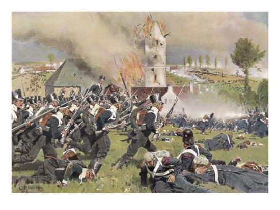The Second Prussian Regiment Attacks at Plancenoit--Giclee Print
