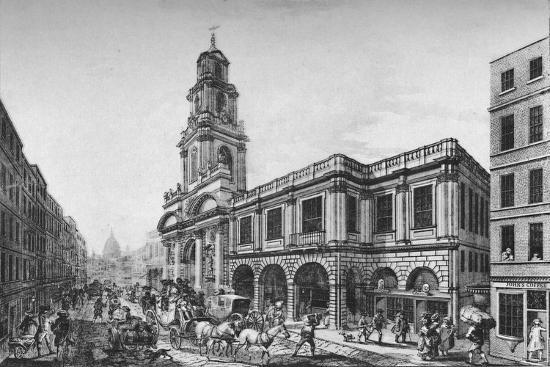 'The Second Royal Exchange, South Front, in 1788', (1928)-Unknown-Giclee Print