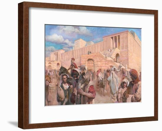 The Second Temple and Surrounding Plaza-Hong Nian Zhang-Framed Giclee Print