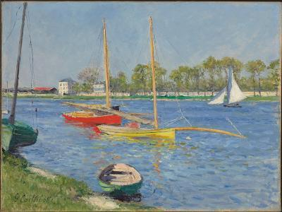 The Seine at Argenteuil, 1882-Gustave Caillebotte-Giclee Print