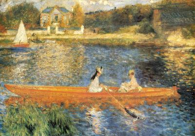 The Seine at Asnieres-Pierre-Auguste Renoir-Art Print