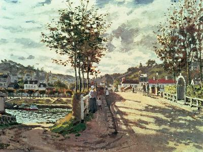 The Seine at Bougival, 1869-Claude Monet-Giclee Print