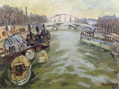 The Seine at Paris, 1951-Glyn Morgan-Giclee Print