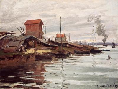 The Seine at Petit-Gennevilliers. La Siene au Petit-Gennevilliers. 1872-Claude Monet-Giclee Print