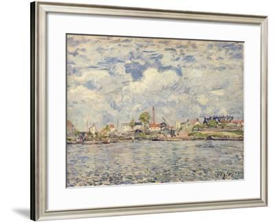 The Seine at Point du Jour, 1877-Alfred Sisley-Framed Giclee Print