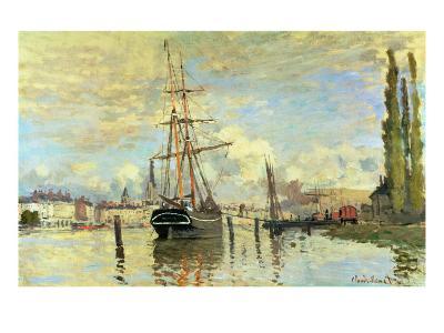 The Seine at Rouen, 1872-Claude Monet-Giclee Print