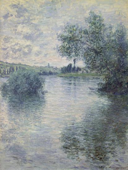 The Seine at Vetheuil, 1879-Claude Monet-Premium Giclee Print