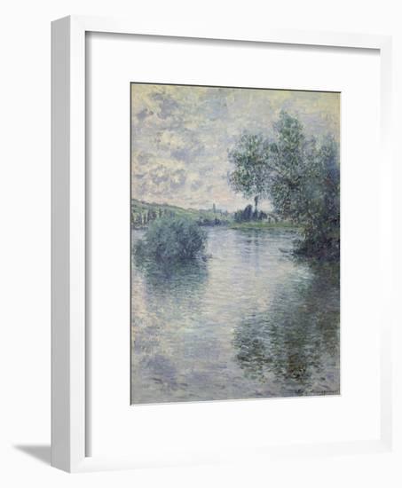 The Seine at Vetheuil, 1879-Claude Monet-Framed Giclee Print