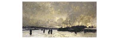 The Seine in December, 1879-Luigi Loir-Giclee Print