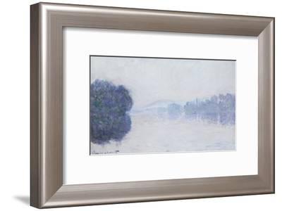The Seine Near Vernon, as Seen in the Morning, circa 1894-Claude Monet-Framed Giclee Print