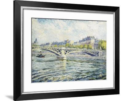 The Seine, Paris; La Seine a Paris, 1904-Henri Lebasque-Framed Giclee Print