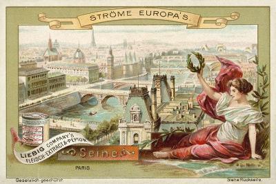The Seine, Paris--Giclee Print