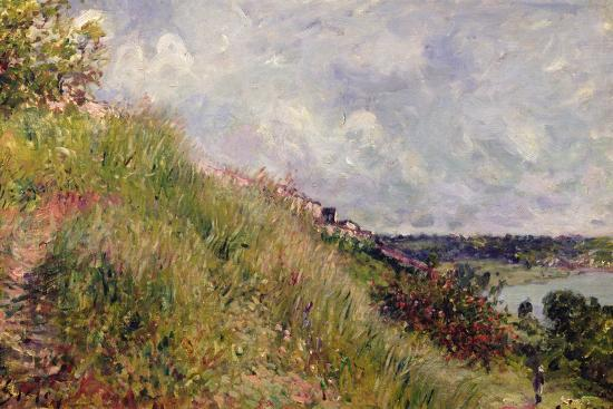 The Seine, View of the Slopes of By, 1881-Alfred Sisley-Giclee Print