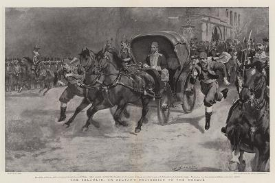 The Selamlik, or Sultan's Procession to the Mosque-William Small-Giclee Print