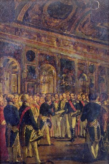The Senate Presenting Louis Napoleon Bonaparte-Charles-Philippe Lariviere-Giclee Print