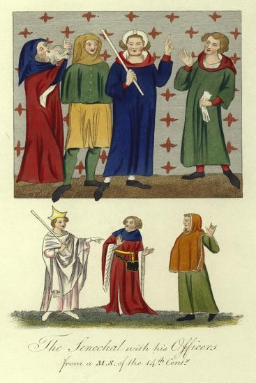 The Senechal with His Officers, 14th Century--Giclee Print