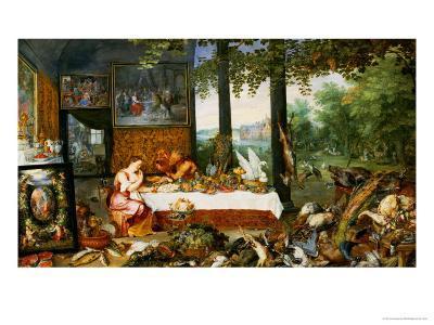 The Sense of Taste, 1618-Jan Brueghel the Elder-Giclee Print