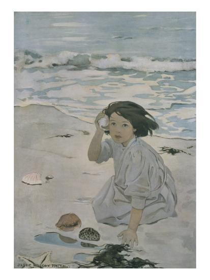 The Senses: Hearing-Jessie Willcox-Smith-Premium Giclee Print