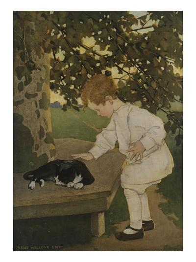 The Senses: Touch-Jessie Willcox-Smith-Giclee Print