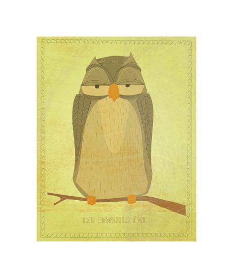 The Sensible Owl-John Golden-Giclee Print