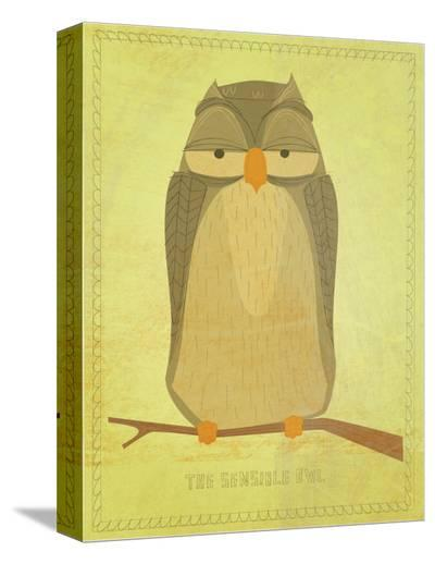 The Sensible Owl-John Golden-Stretched Canvas Print