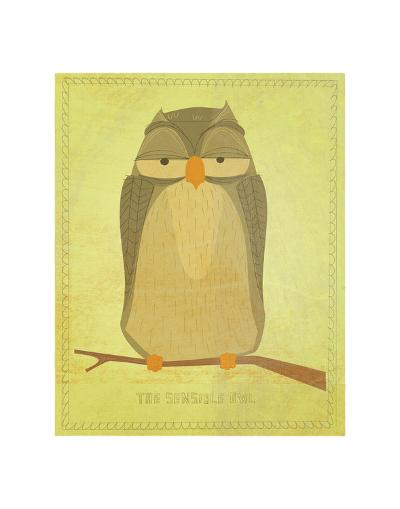 The Sensible Owl-John Golden-Art Print