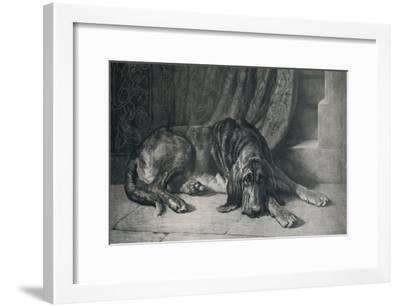 'The Sentinel', 1913, (1917)-Herbert Thomas Dicksee-Framed Giclee Print