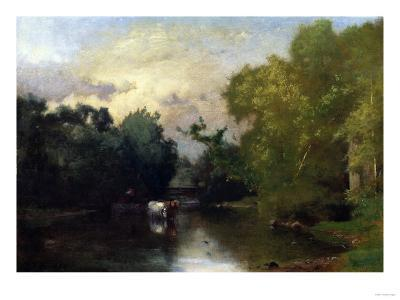 The Sequonac, New Jersey, 1877-Thomas Birch-Giclee Print