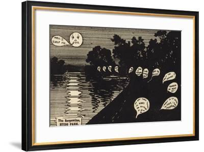The Serpentine, Hyde Park--Framed Giclee Print