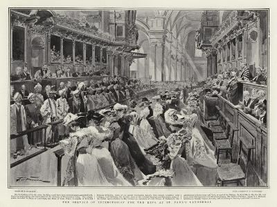 The Service of Intercession for the King at St Paul's Cathedral-Frederic De Haenen-Giclee Print