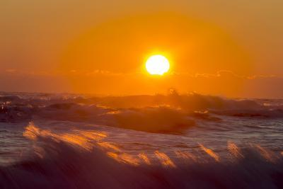 The Setting Sun Lends a Fiery Glow to End the Day-Robbie George-Photographic Print
