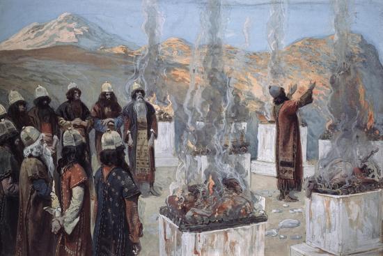 The Seven Altars of Balaam-James Jacques Joseph Tissot-Giclee Print