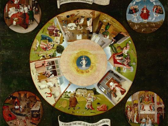 The Seven Deadly Sins And the Four Last Things, Ca. 1500-Hieronymus Bosch-Giclee Print