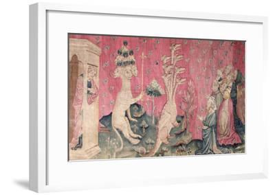 The Seven-Headed Beast from the Sea Receiving the Homage of Men, No.41-Nicolas Bataille-Framed Giclee Print