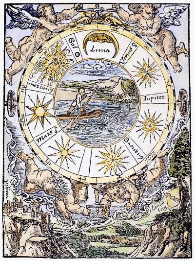 The Seven Planets, 1536-Sebastian Munster-Giclee Print