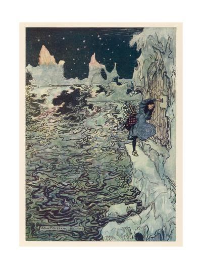 The Seven Ravens 2-Arthur Rackham-Giclee Print