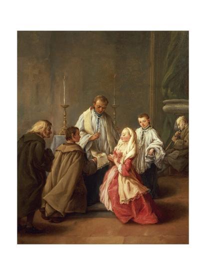 The Seven Sacraments: Marriage-Pietro Longhi-Giclee Print