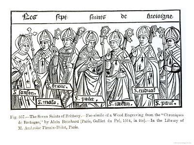 The Seven Saints of Brittany, from Chroniques de Bretagne Bouchard, c.1514--Giclee Print