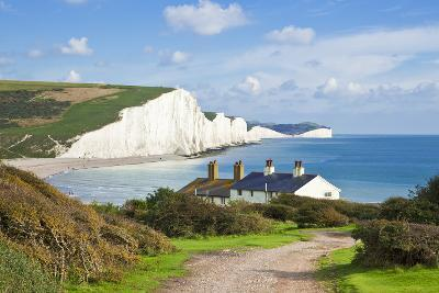 The Seven Sisters Chalk Cliffs and Coastguard Cottages-Neale Clark-Photographic Print