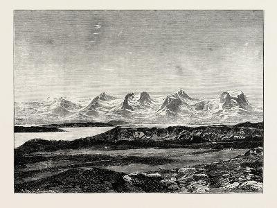 The Seven Sisters. De Syv Søstre (Seven Sisters), a Mountain Formation in Helgeland, Norway--Giclee Print