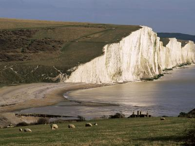 The Seven Sisters, East Sussex, England, United Kingdom-Jean Brooks-Photographic Print